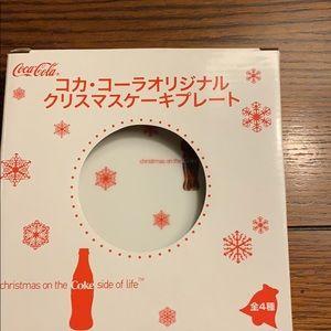 Japan Coca Cola 2007 small Christmas Plate Coke